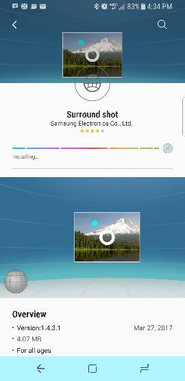 Any way to shoot Photosphere photos with the S8? - Android