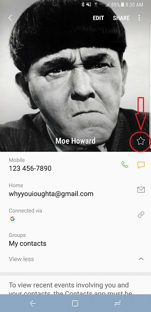 How do I show my favorite callers at top of contact list for Samsung 8s-screenshot_20170517-083001.jpg
