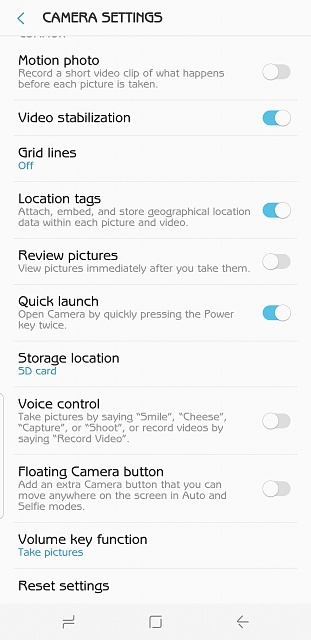 Does the US Unlocked Version of the Galaxy S8 Have the Option to Turn Off Shutter Sound?-screenshot_20170712-122050.jpg