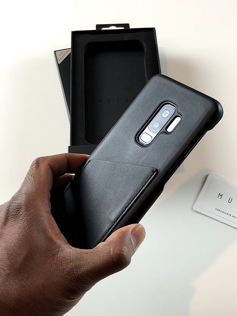 new product fe6f1 cfa25 Review: Mujjo Wallet Case for the Samsung Galaxy S9+ - Android ...