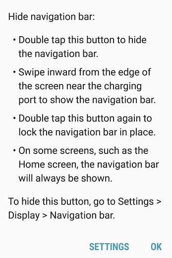 Can the white navigation bar with the keyboard be disabled? Galaxy 9s plus.-smartselect_20180927-194345_message-.jpg
