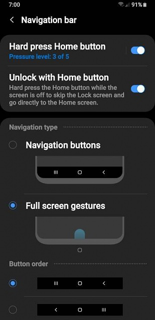 Navigation bar disappeared S9+ - Android Forums at