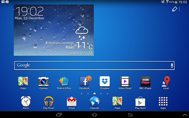 galaxy tab 2 10 1   edit button on home screen   android