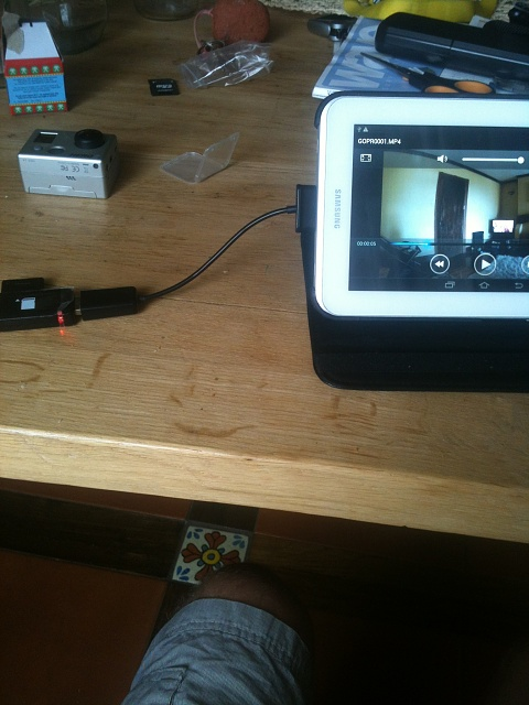 Tablet And GoPro For Travelling