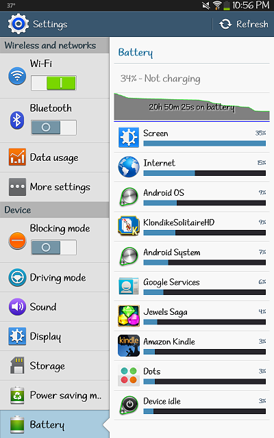 battery on tab3 8.0 drains quickly...an issue?-screenshot_2013-11-03-22-56-31.png