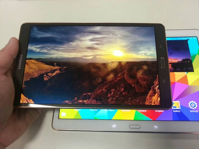 tab S 8.4 I got it... bronze is a nice color wow.  PIC-20140626_125727.jpg