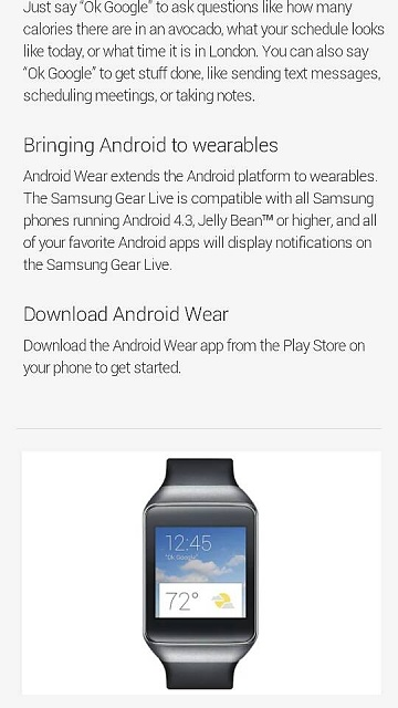 Google Play store says the Samsung Gear live only works with Samsung phones.-109331.jpg
