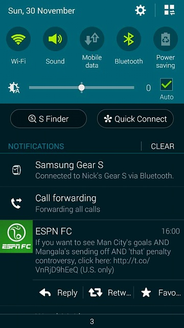 Is it normal for call forwarding to be in notification center?-1417363683370.jpg