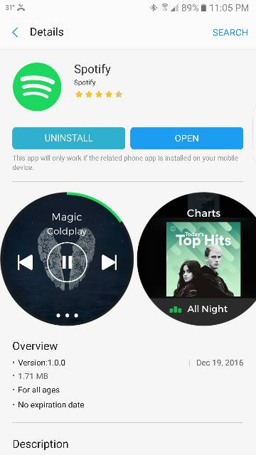 Samsung Gear S3 / S2: Spotify App Now Available