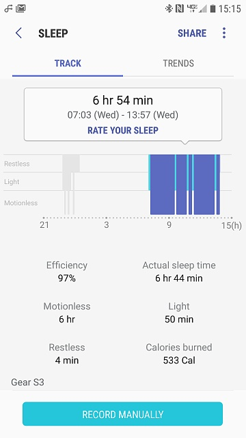 Sleep tracking through SHealth - Android Forums at