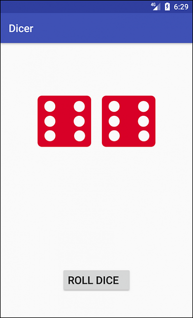 [Tutorial] Learn to create a Roll Dice Game on Android-dicer_screenshot.png