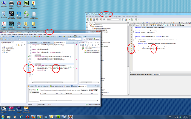ALL NEW PROJ STARTUP CODE - GIVE ERROR prior run so can not run. android.R class-netbeans-eclipse-error-r.png