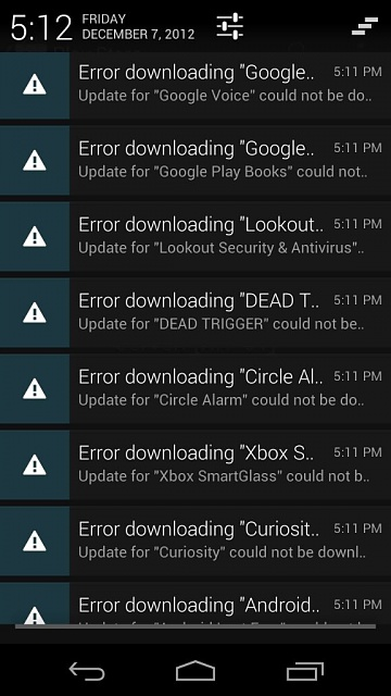 I can't update or install apps in Google play-uploadfromtaptalk1354918442591.jpg