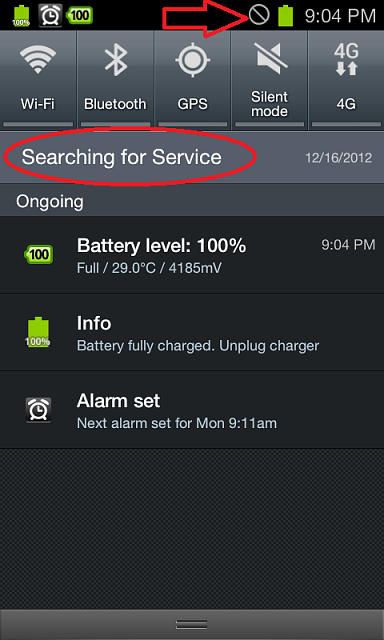 Unknown Icon In Notification Bar And Unable To Turn Searching For