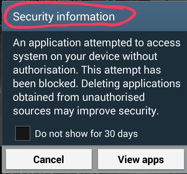 Samsung Galaxy Note 2 Security Settings