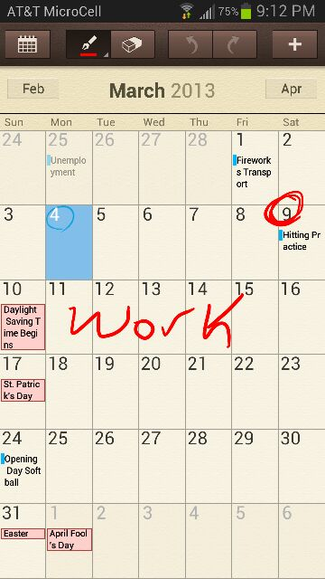 Calendar With S-Pen Question - Android Forums at
