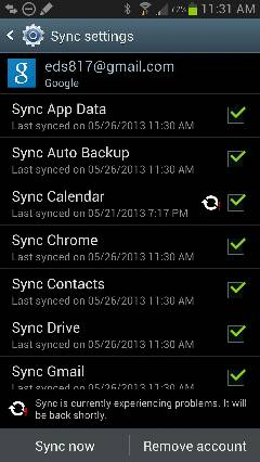 Anyone else having a Google calendar sync failure?-uploadfromtaptalk1369582596837.jpg
