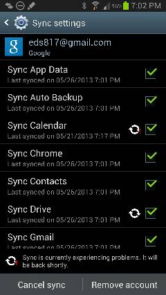 Anyone else having a Google calendar sync failure?-uploadfromtaptalk1369609436897.jpg