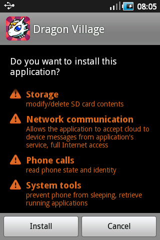 Application cannot be installed in the default install