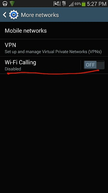 T-Mobile Note 3: DISABLE Wifi Calling permanently