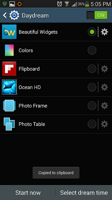 """Is there no """"Clock"""" option on Daydream for Galaxy Note 3?-1382134115681.jpg"""