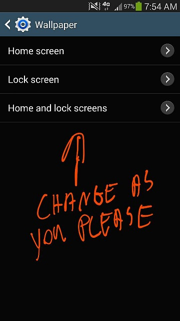 how can i change the wallpaper on my samsung galaxy note 3