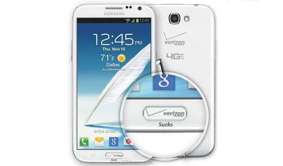 People are getting mad about the logo on the home button. I don't get it.-gsnote2-verizon.jpg