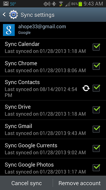 Galaxy S3 not syncing Google Contacts - Android Forums at ...