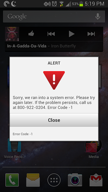 Pop Up Error Message Android Forums At Androidcentral Com