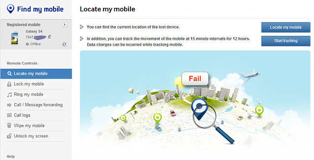 find my mobile samsung