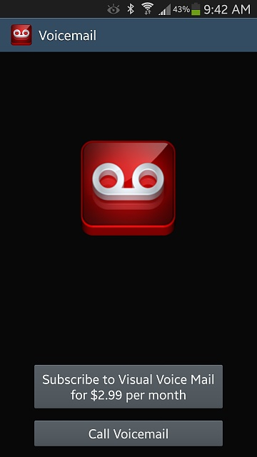 Removing the Visual Voice Mail prompt - Android Forums at