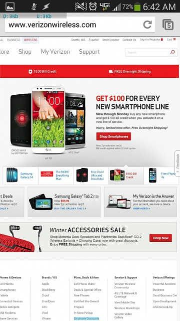 Verizon: Get a 0 bill credit for each new smartphone line of service-uploadfromtaptalk1393512974541.jpg