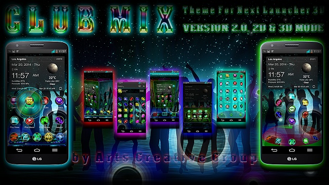 Next Launcher 3D Theme ClubMix (Version 2.0, 2D & 3D MODE)-artclubmix15.jpg