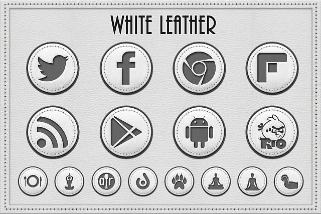 White Leather Icon Pack-screenshot_00000.jpg