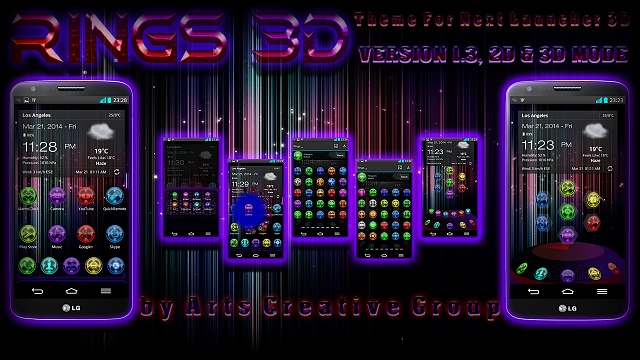 Next Launcher 3D Rings Theme (v1.3, 2D&3D MODE)-artrings3d.jpg