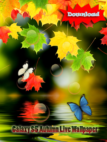 Free Samsung Galaxy S5 Autumn Butterfly Live Wallpaper 2014