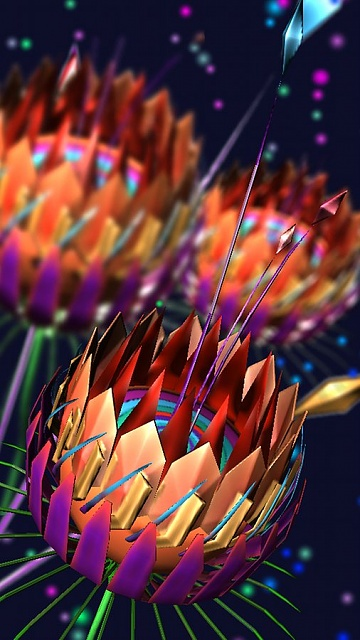 FREE Crystal Flowers 3D Live Wallpaper 1