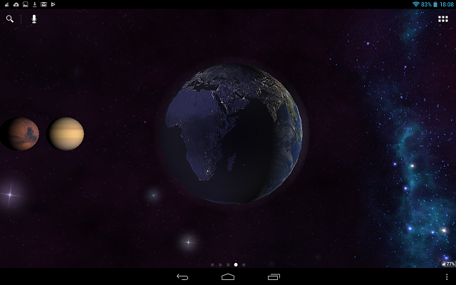 Solar system live wallpaper - Android